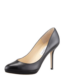 Jimmy Choo Aimee Leather Platform Pump, Black
