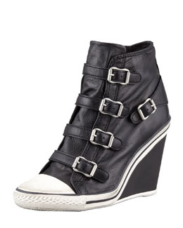Ash Thelma High-Top Wedge Sneaker, Black