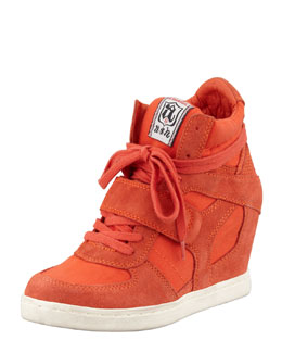 Ash Cool High-Top Wedge Sneaker, Orange
