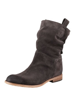 Alberto Fermani Umbria Snap-Back Ankle Boot, Anthracite