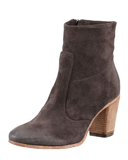 Alberto Fermani Diva Suede Ankle Boot, Anthracite