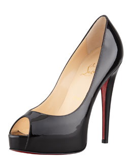 Christian Louboutin Vendome Patent Platform Red Sole Pump