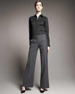 Theory Emery Relaxed Wide-Leg Pants
