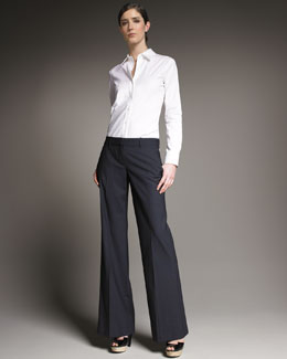 Theory Emery Wide-Leg Pants