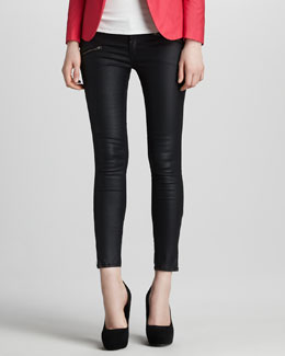 rag & bone/JEAN Coated Denim Leggings