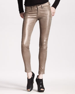 rag & bone/JEAN The Skinny, Bronze Leather