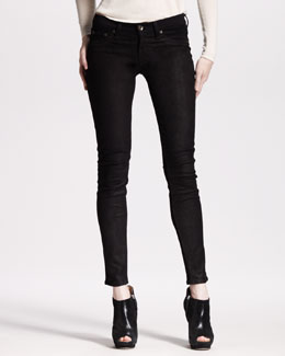 rag & bone/JEAN The Hyde Leather Denim Skinny