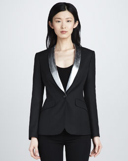 Elizabeth and James Rex Metallic-Trim Blazer