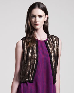 Kelly Wearstler Sequined Jazz Vest