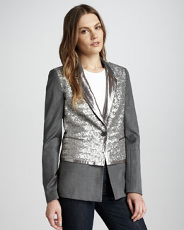 Elizabeth and James Rex Sequined Blazer