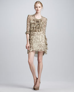 Skaist Taylor Faithful Printed Ruffled Dress