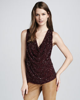 Haute Hippie Sequined Top