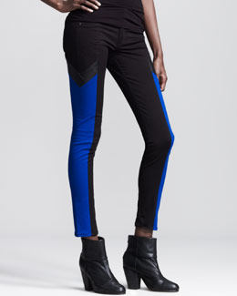 rag & bone/JEAN Grand Prix Paneled Leggings, Royal