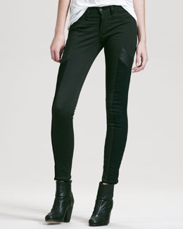 rag & bone/JEAN Grand Prix Paneled Leggings, Forest