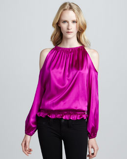 Ramy Brook Lauren Cold-Shoulder Top