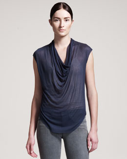 HELMUT Helmut Lang Voltage Drape-Front Top