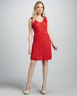 M Missoni Zigzag-Knit Sleeveless Dress
