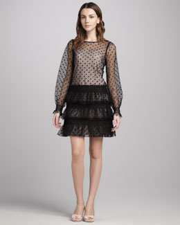RED Valentino Swiss Dot Tulle Dress