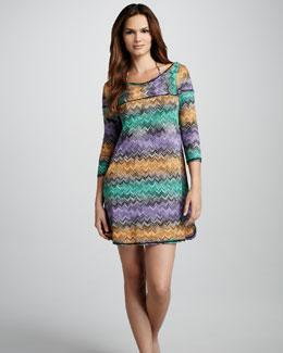 Missoni Zigzag Snake-Print Coverup Dress