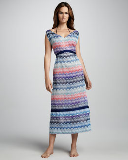 Missoni Pizzo Patterned-Knit Coverup Dress