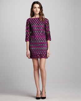 Catherine Malandrino Cutout Shift Dress, Mulberry