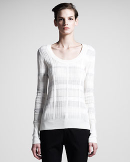 10 Crosby Derek Lam Rib-Trim Scoop-Neck Sweater