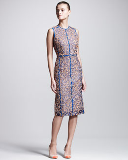 Reed Krakoff Embroidered Organza Dress