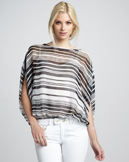 Rachel Zoe Noel Striped Batwing Top