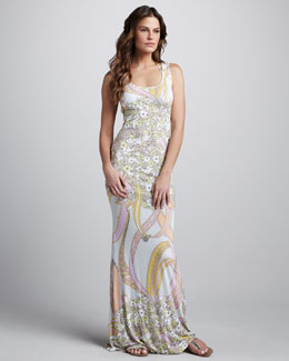 Emilio Pucci Ortensie Coverup Maxi Dress