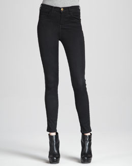 Current/Elliott The Rider High-Rise Cropped Jeans