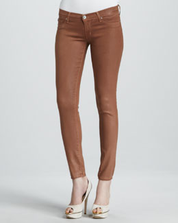 Hudson Krista Lucky Coated Super Skinny Jeans