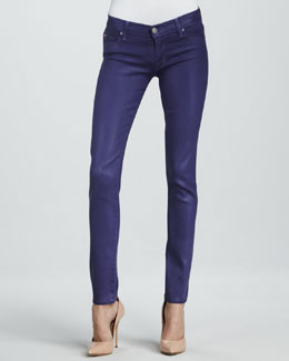 Hudson Krista Sugarplum Wax Super Skinny Jeans