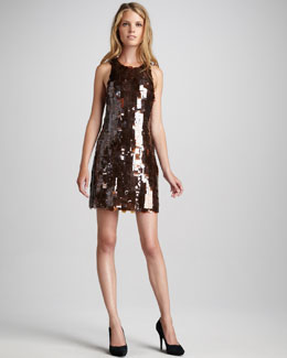 Skaist Taylor Angie Paillette Shift Dress