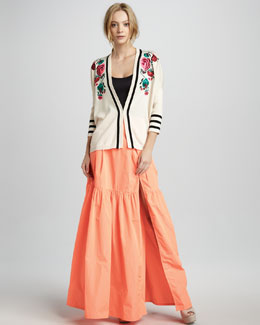 Nanette Lepore Secret Poem Tiered Maxi Skirt