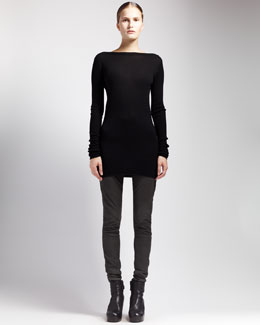 Rick Owens Shred-Back Sweater Dress