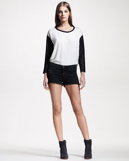 rag & bone/JEAN Mila Destroyed Rock Cutoff Denim Shorts