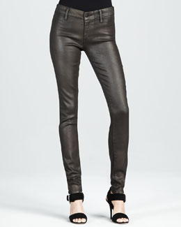 Koral Skinny Dark Gold Metallic Jeans
