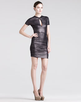 Pierre Balmain Ruched Keyhole Dress