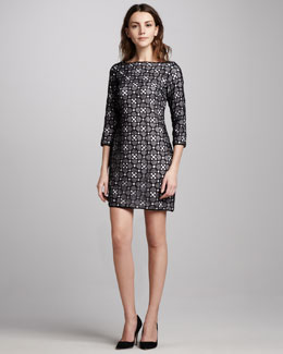 Catherine Malandrino Contrast Lace Dress
