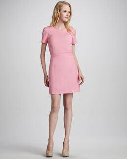 Theory Inessa Fitted Sateen Dress
