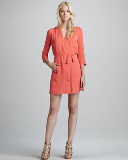 Theory Ivona Belted Shirtdress