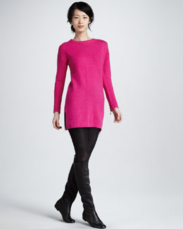 Milly Moritz Long-Sleeve Sweater Dress