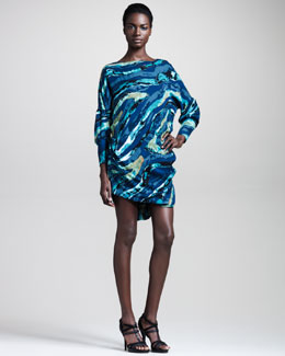 Kelly Wearstler Water-Print Cocoon Dress