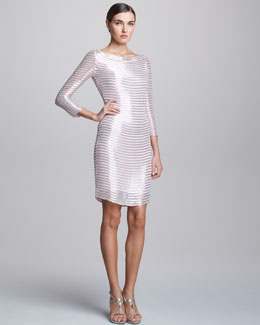 Naeem Khan Beaded Cocktail Dress