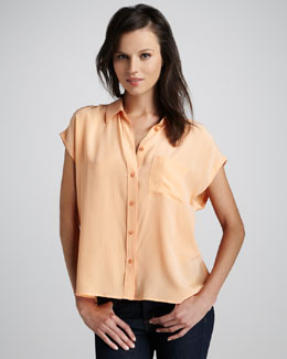Equipment Marley Short-Sleeve Blouse