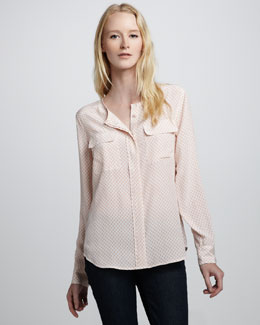 Equipment Lynn Printed Blouse
