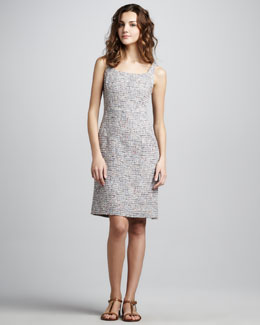 Tory Burch Emma Sleeveless Tweed Dress