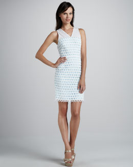 Sachin + Babi Artesa Dress with Scalloped Hem