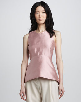 Halston Heritage Sleeveless Peplum Top