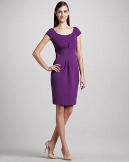 Elie Tahari Gia Pleated-Waist Dress